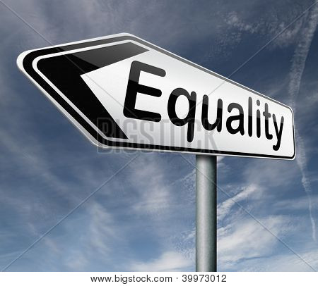 equality equal rights and opportunities for all women man disabled black and white solidarity discrimination of people with disability or physical and mental handicap