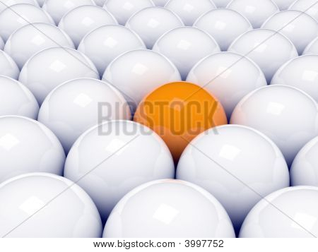 Alone Orange Ball