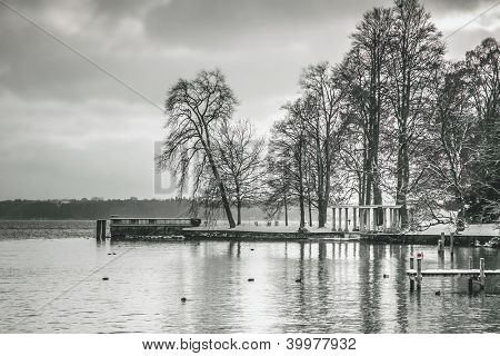 An image of the Starnberg Lake in Bavaria Germany - Tutzing Dec. 2012