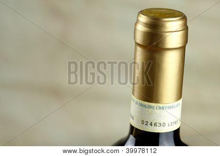 Bottle Of Fine Italian Red Wine