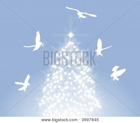 Doves And Tree
