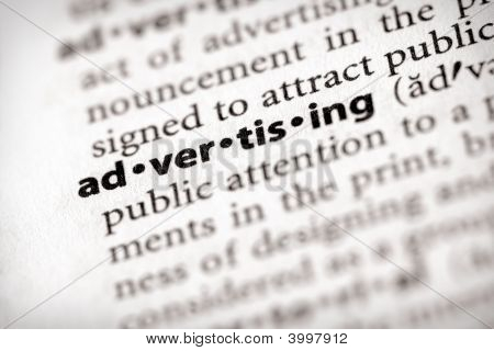 Dictionary Series - Marketing: Advertising
