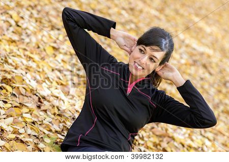 Woman Trainning Abs