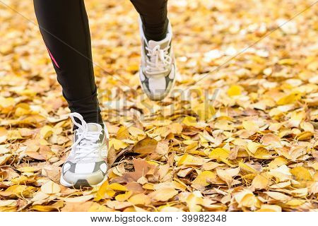 Running Feet In Autumn