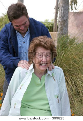 Senior Enjoying Massage