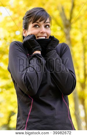 Sport In Autumn Cold Weather