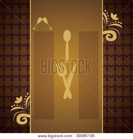 Menus And Retro Business Cards For Restaurant
