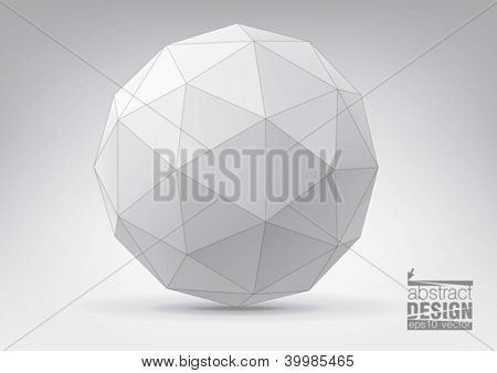 Sphere with triangular faces, you can change colors