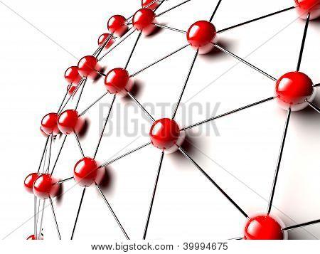 Red Linked Spheres