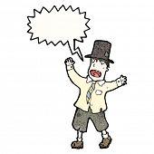 pic of hobo  - cartoon hobo man shouting - JPG