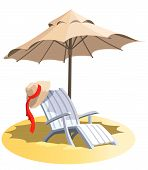 Chair And Umbrella poster