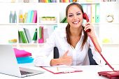 stock photo of receptionist  - contact us - JPG