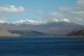 image of carron  - Loch Carron and Sgorr Ruadh from the south - JPG