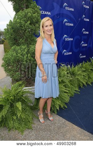 LOS ANGELES - AUG 18:  Angela Kinsey at the Oceana's 6th Annual SeaChange Summer Party at the Beverly Hilton Hotel on August 18, 2013 in Beverly Hills, CA