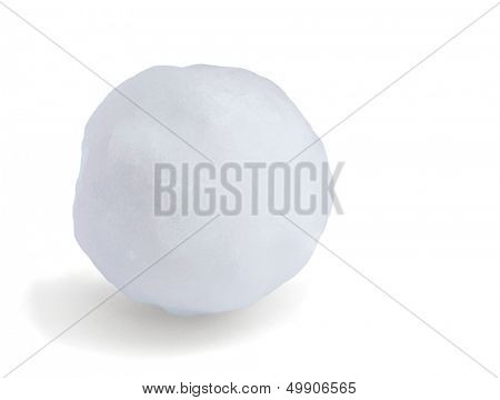 Just snowball isolated on white