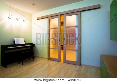 Piano In Modern Room