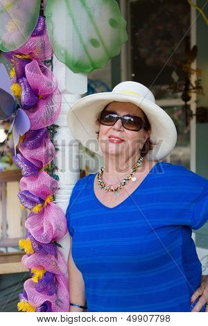 Stylish Senior Woman In Sunglasses