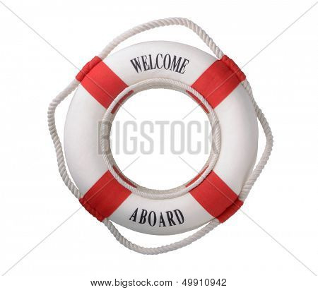 White life buoy with