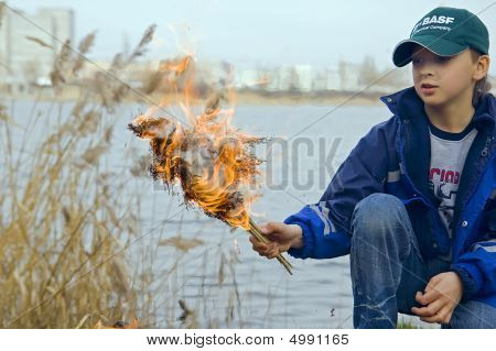 Boy With Flame
