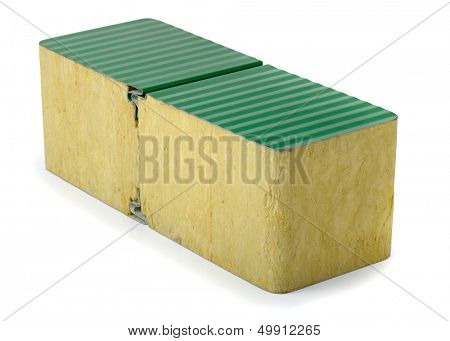 Aluminium composite panel with mineral wool core