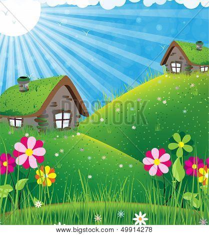 Sunny Rural Landscape