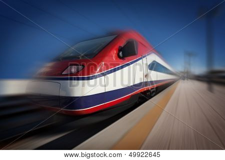 Train In Motion