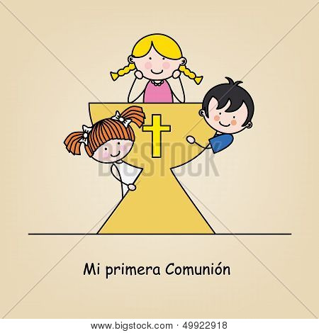 First communion card.