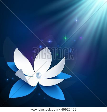 Night cosmic flower vector background