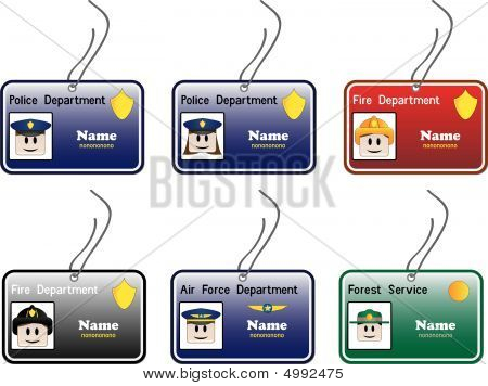 Cartão de identificação da polícia