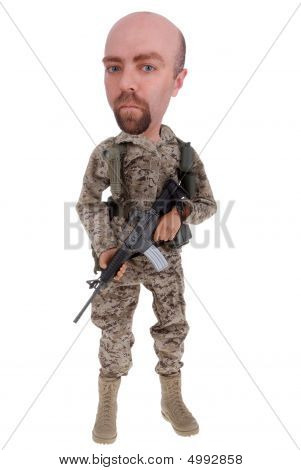 Army Soldier Doll