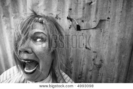 Homeless Woman Screaming