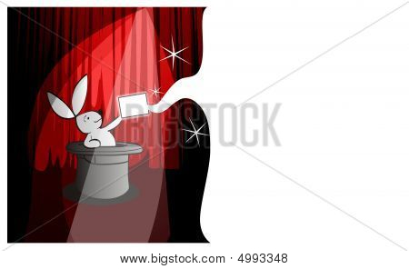 Magical White Rabbit Postcard