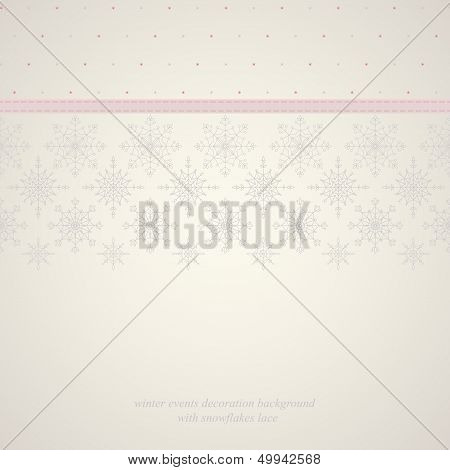Seamless snowflakes lace background 2.