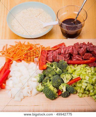 Stir Fry Ingredients Vertical