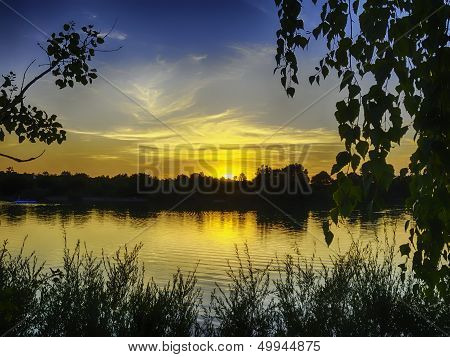 Sunset On The Lake Pucher Meer