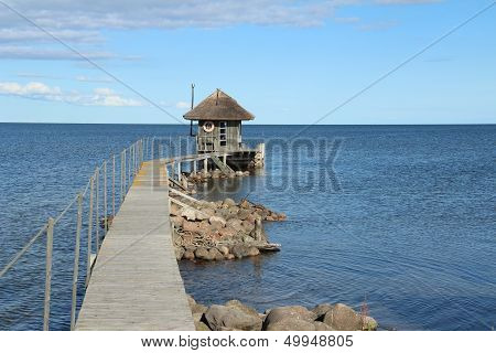 Cabin over water