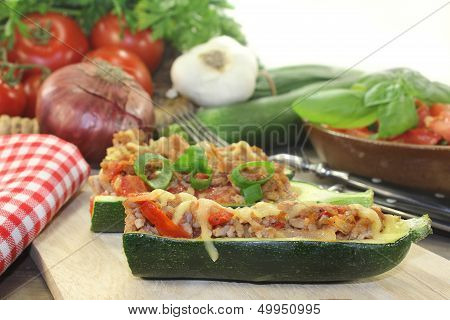 Stuffed Courgette