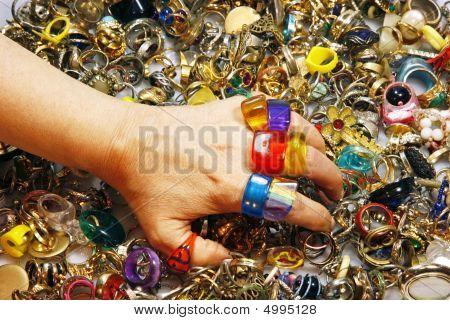 Colorful Vintage Rings