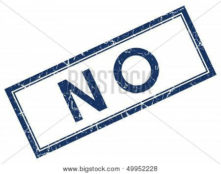 No Blue Square Stamp