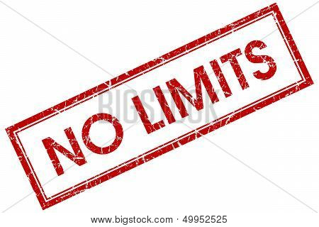 No Limits Red Square Stamp