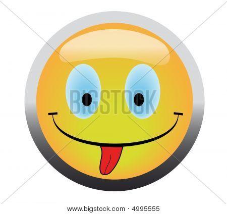 Happy Smile Button
