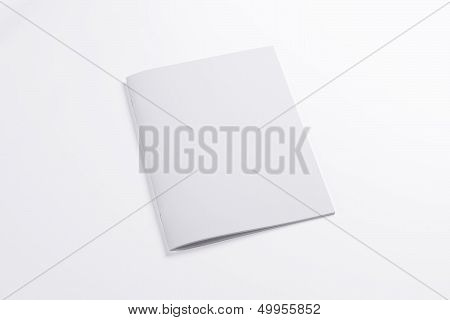 Blank Closed Magazine Isolated On White