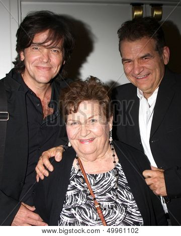 LOS ANGELES - AUG 24:  Michael Damian, mother, brother at the Young & Restless Fan Club Dinner at the Universal Sheraton Hotel on August 24, 2013 in Los Angeles, CA