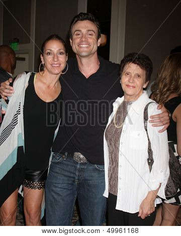 LOS ANGELES - AUG 24:  Rachael Marcus Goddard, Daniel Goddard, Mom at the Young & Restless Fan Club Dinner at the Universal Sheraton Hotel on August 24, 2013 in Los Angeles, CA