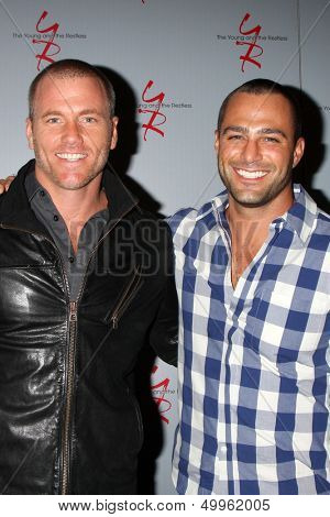 LOS ANGELES - AUG 24:  Sean Carrigan, Marco Dapper at the Young & Restless Fan Club Dinner at the Universal Sheraton Hotel on August 24, 2013 in Los Angeles, CA