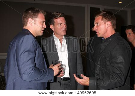 LOS ANGELES - AUG 24:  Billy Miller, Peter Bergman, Steve Burton at the Young & Restless Fan Club Dinner at the Universal Sheraton Hotel on August 24, 2013 in Los Angeles, CA