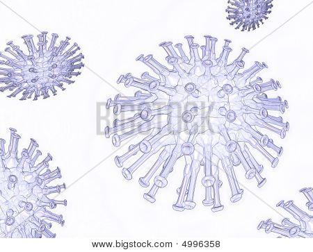 Illustration Of A Flu Virus