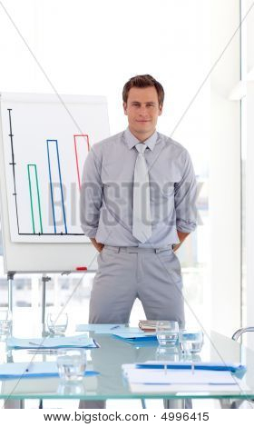 Sales Manager Presenting Figures