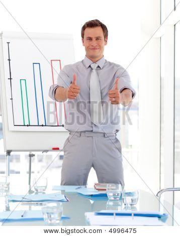 Happy Businessman After Presentation