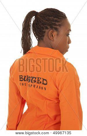 Woman Prisoner Orange Back Busted